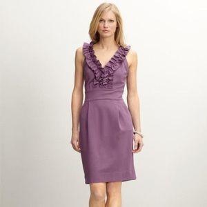 New banana republic ruffle purple sleeveless dress